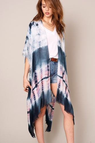 Tie Dyed Kimono Cover Up - Assorted Long