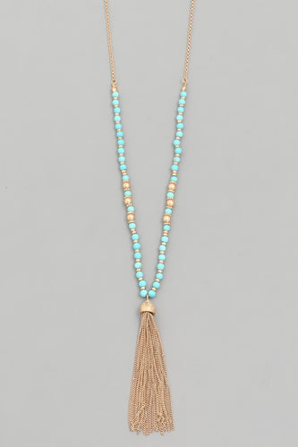 Chain Tassel Necklace - Assorted Colors