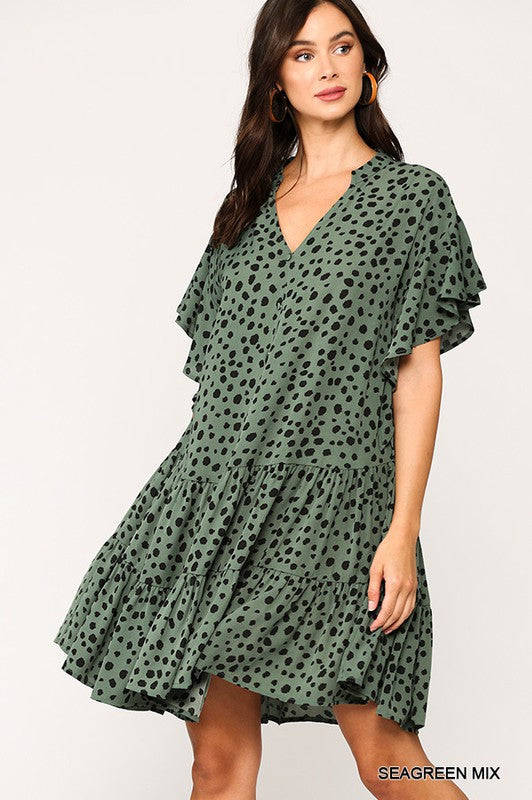 Seagreen Tiered Dress