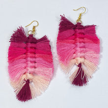 Load image into Gallery viewer, Thread Tassel Earrings