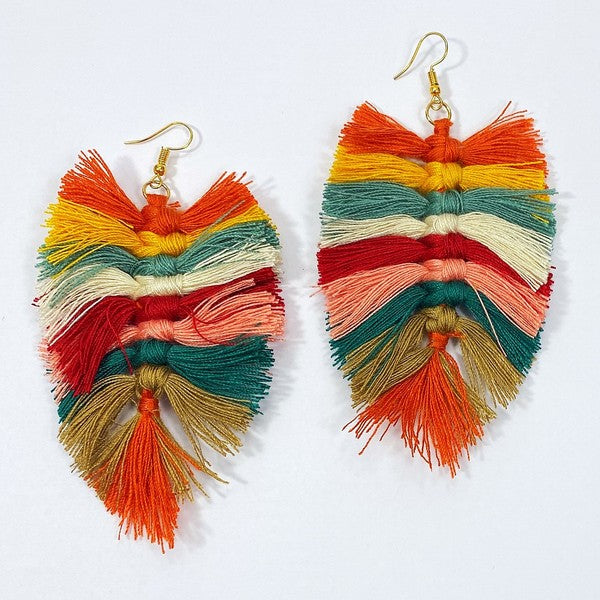 Thread Tassel Earrings