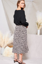 Load image into Gallery viewer, Zebra Wrap Skirt