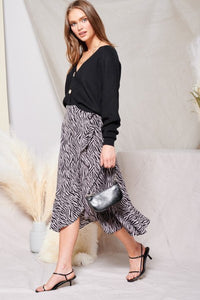 Zebra Wrap Skirt