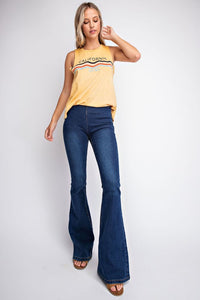 Pull On Flare Jeans