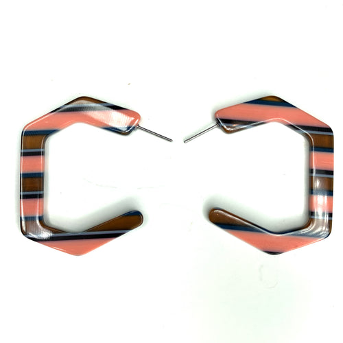 Lucite Striped Earrings