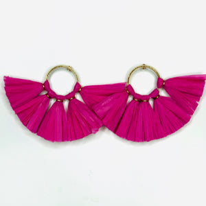 Raffia Studs - Assorted Color
