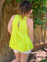 Load image into Gallery viewer, Lemon Ruffle Tank