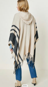 Hooded Fringe Shawl