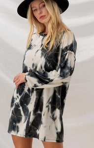 Tie Dye Reverse Seam Dress