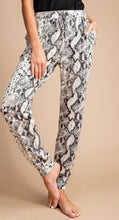 Load image into Gallery viewer, Snake Print Joggers