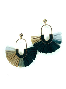 Raffia & Gold Earrings