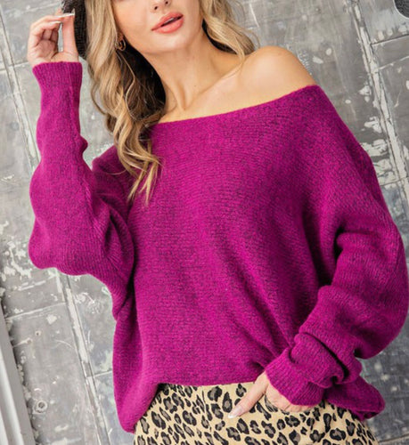 Orchid Ribbed Sweater