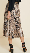 Load image into Gallery viewer, Pleated Snakeskin Midi Skirt