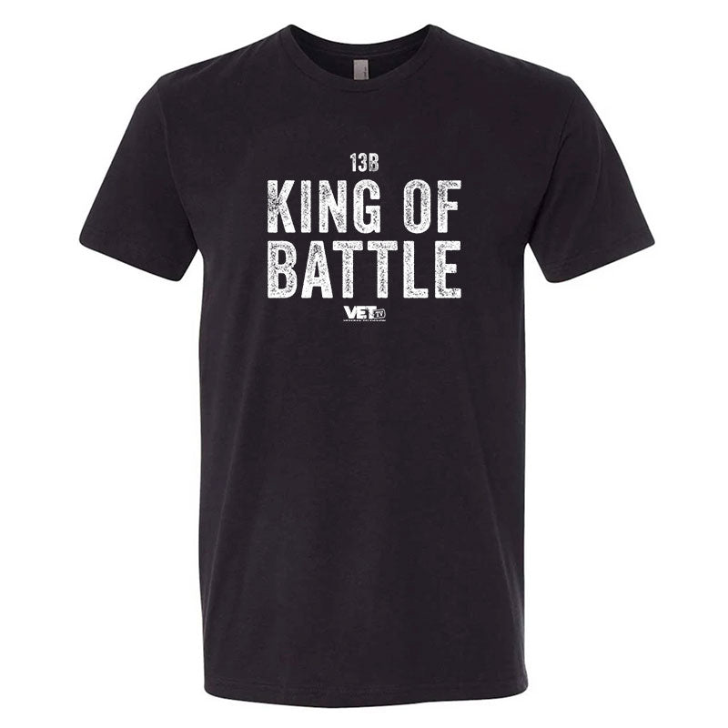 VET Tv MOS King of Battle Next Level Unisex Black Military Style T-Shirt