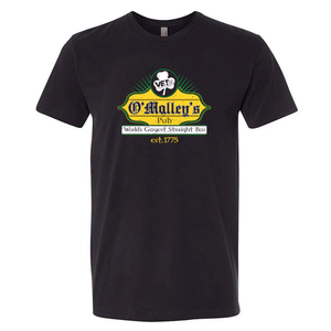 VET Tv Black Donny O'Malley's Pub Next Level Short-Sleeve Unisex T-Shirt