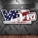 American Flag VET Tv Logo Sticker