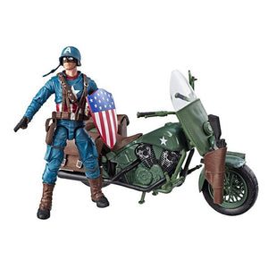 WWII Captain America W/ Motorcycle