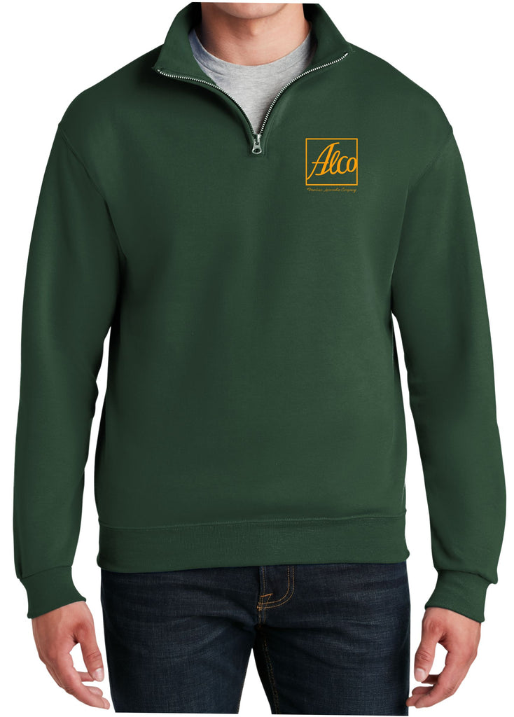 Alco Logo  Embroidered Cadet Collar Sweatshirt
