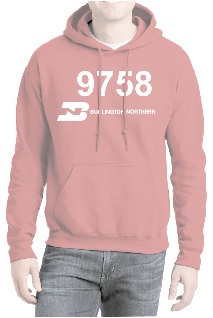 Burlington Northern Railroad 9758 Logo Hoodie