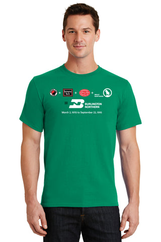 Burlington Northern Railroad Merger Logo Shirt