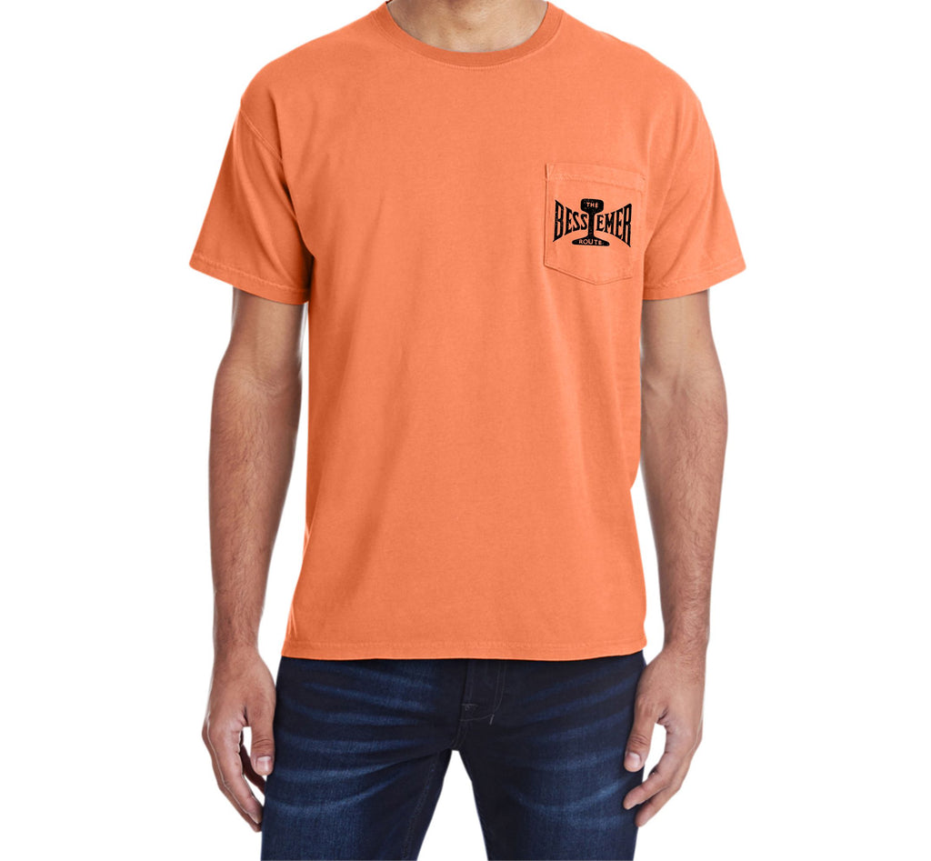 Bessemer and Lake Erie Pocket Tee Faded Glory Shirt