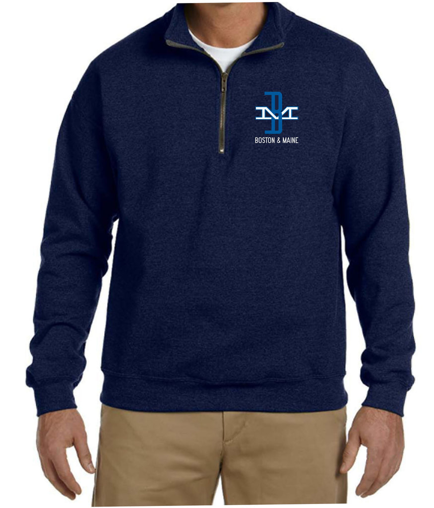 "Boston and Maine ""McGinnis"" Logo  Embroidered Cadet Collar Sweatshirt"