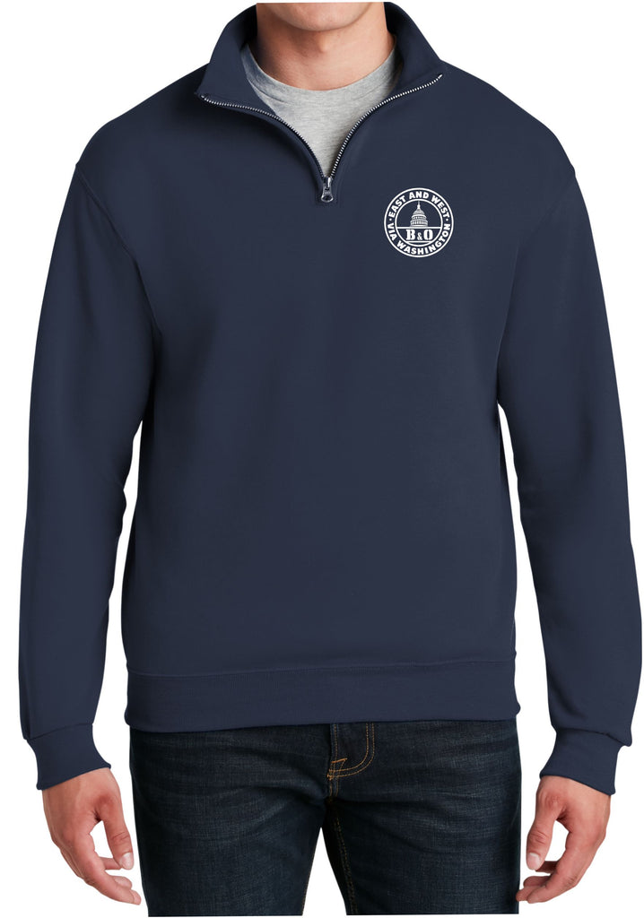 Baltimore and Ohio Logo  Embroidered Cadet Collar Sweatshirt