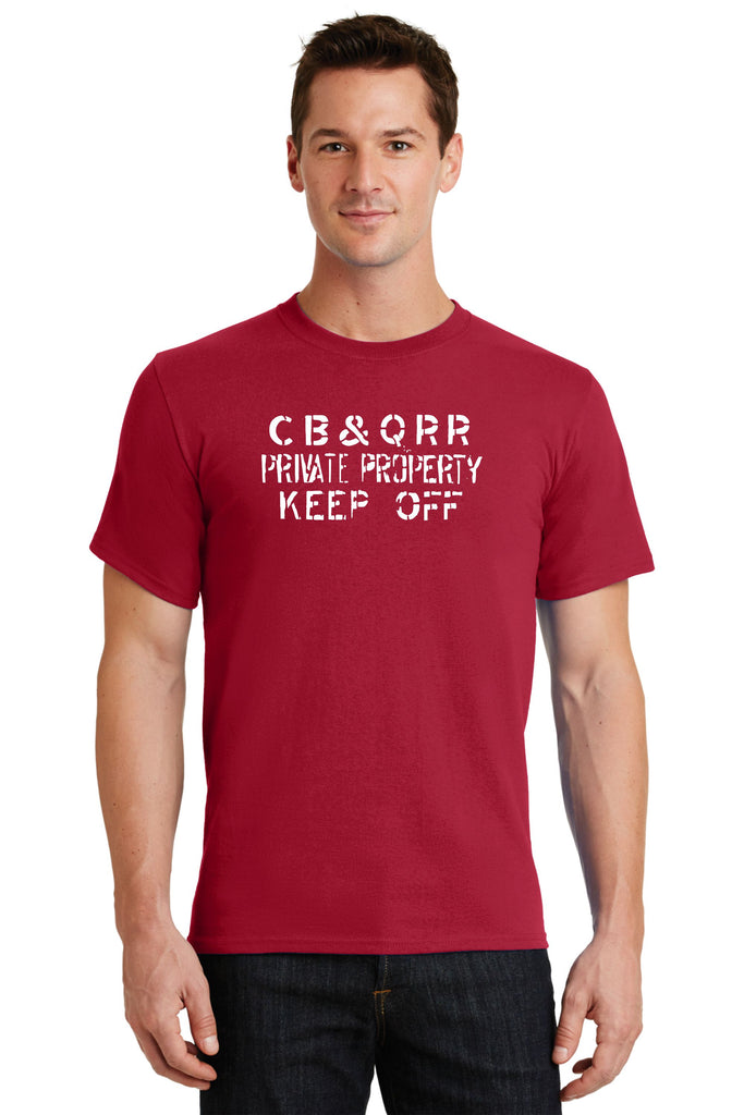 "CB&Q ""Private Property"" Railroad Logo Shirt"