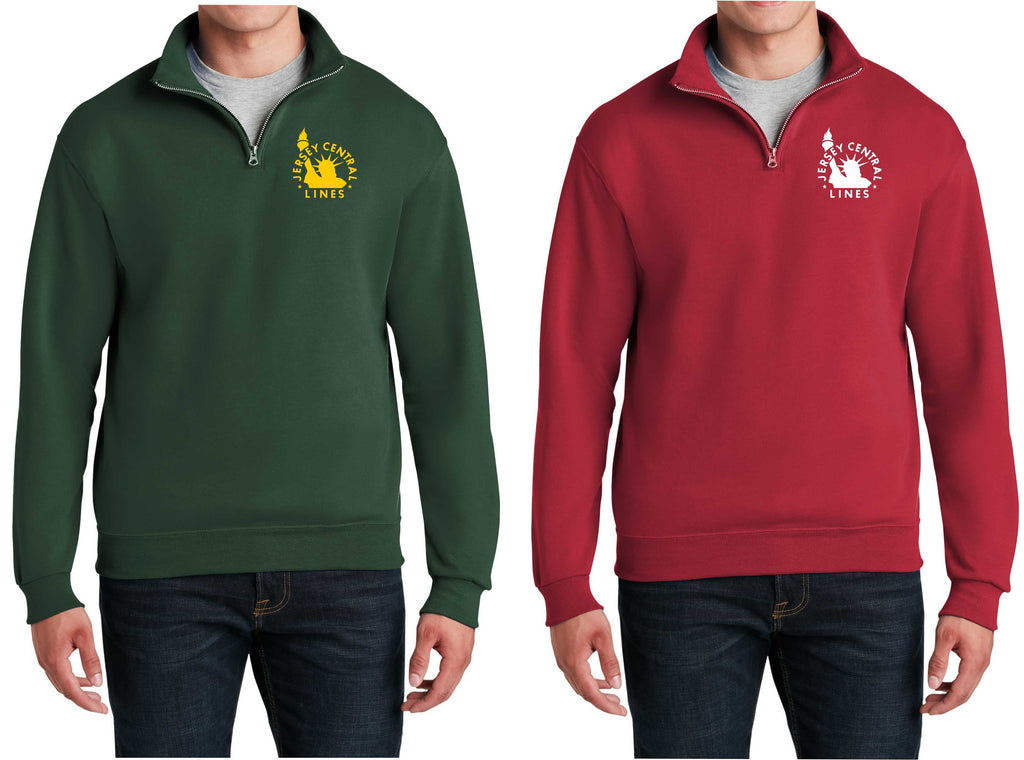 Central of New Jersey Logo Embroidered Cadet Collar Sweatshirt