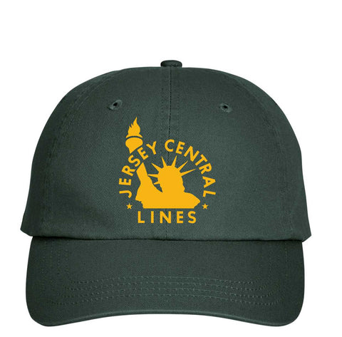 Central of New Jersey Railroad Forest Green Embroidered Cap