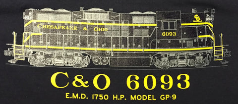 C&O 6093 (EMD 1750 HP, Model GP9) Shirt