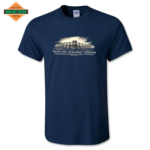 "Chesapeake & Ohio Railway (C&O) ""Comin' Over the Mountain"" Shirt"