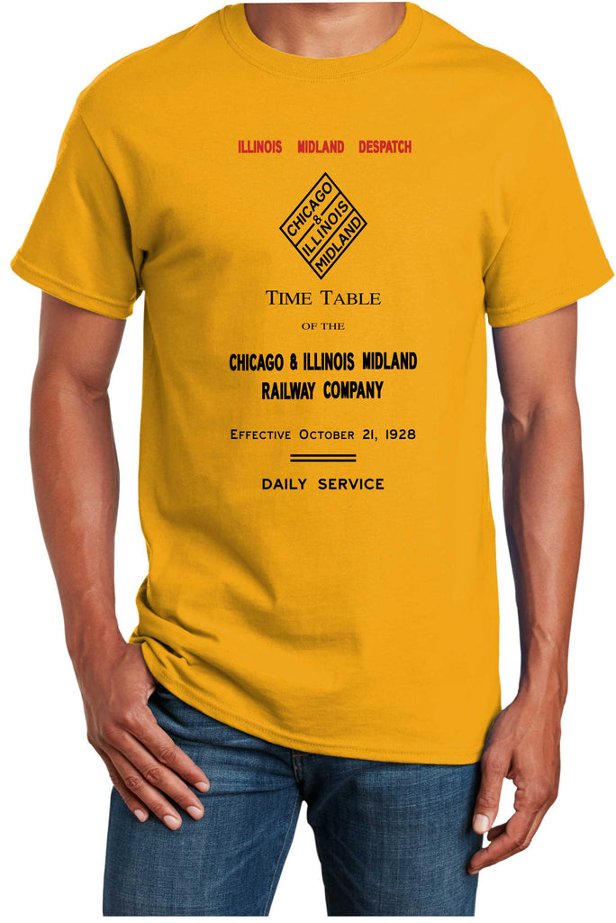 Chicago & Illinois Midland Railway Time Table 1928 Logo Shirt