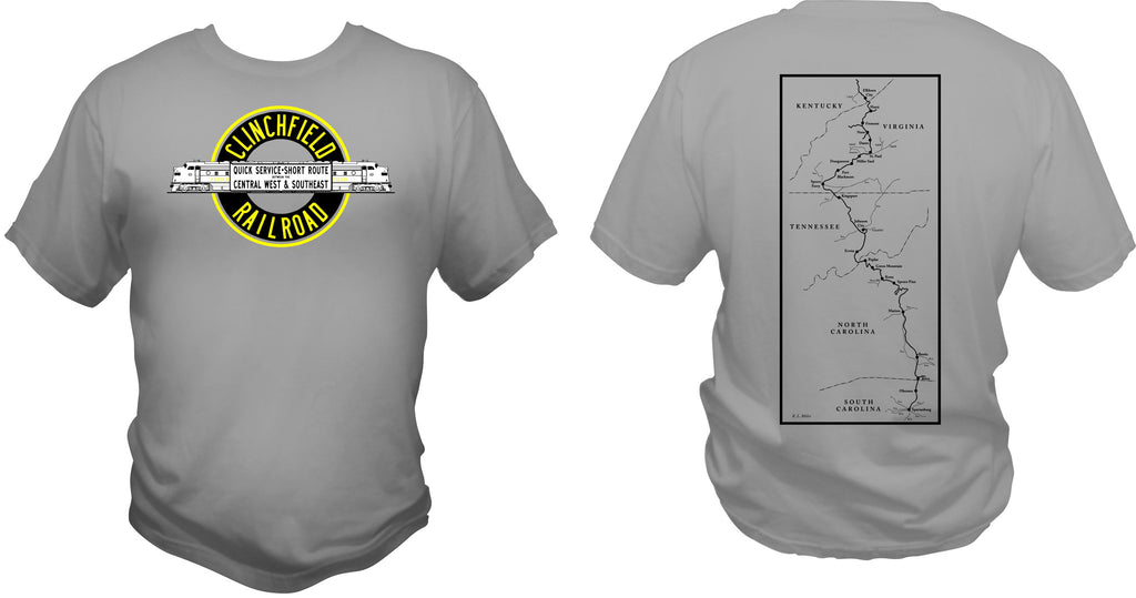 Clinchfield Railroad Logo & Map Shirt