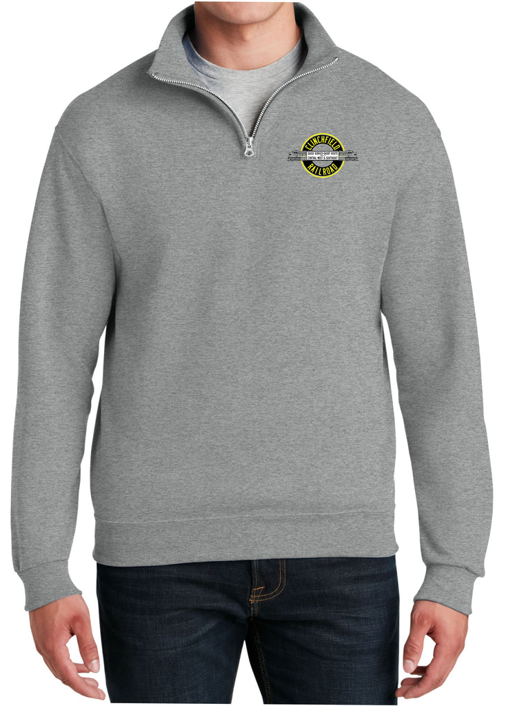Clinchfield Logo  Embroidered Cadet Collar Sweatshirt