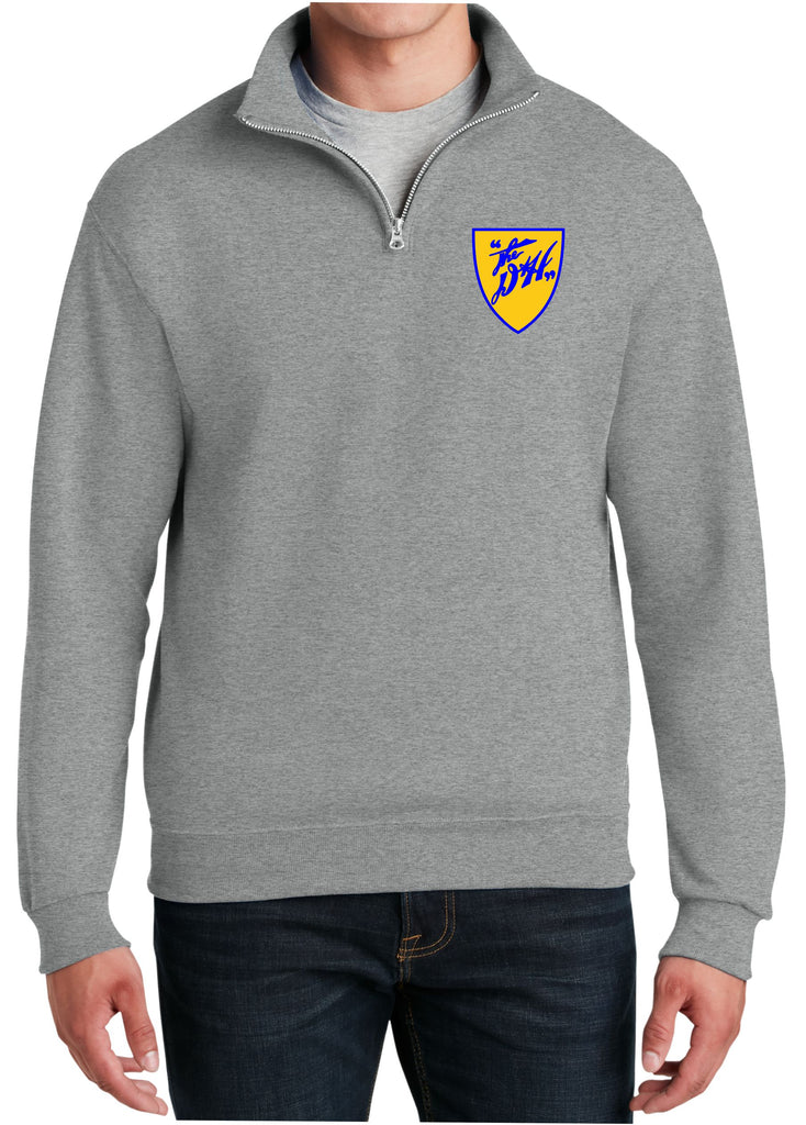Delaware and Hudson Shield Logo  Embroidered Cadet Collar Sweatshirt