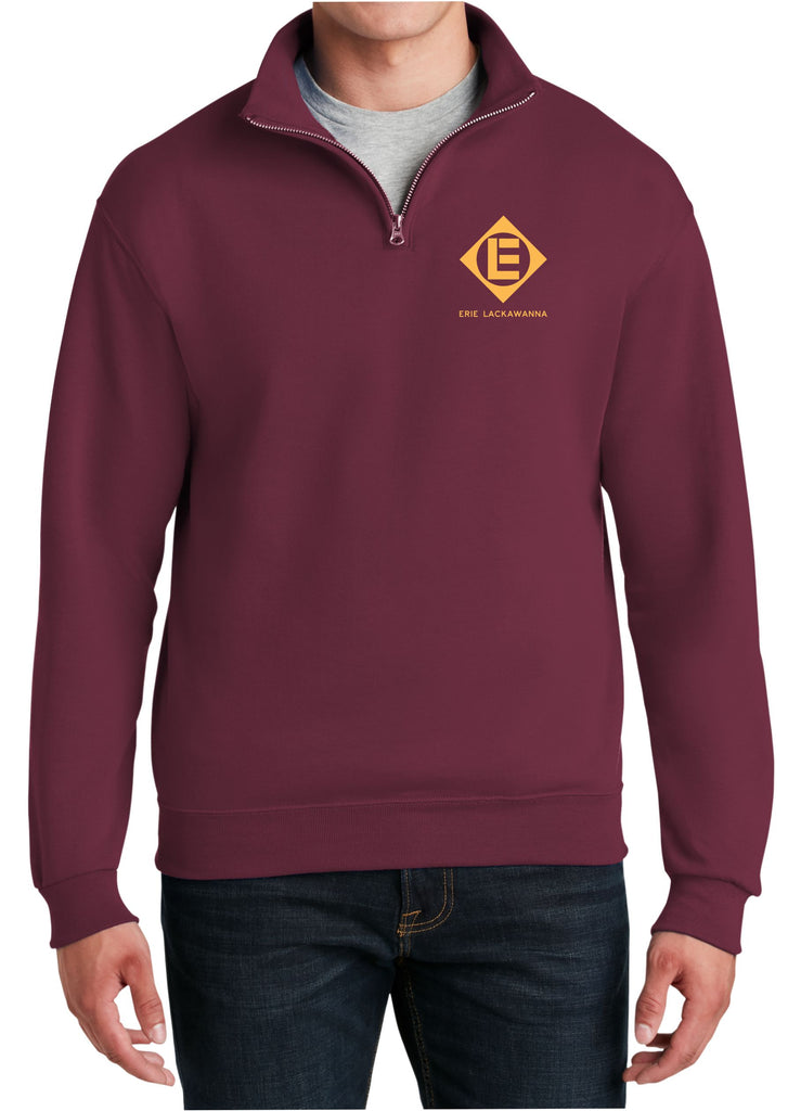 Erie Lackawanna Logo  Embroidered Cadet Collar Sweatshirt