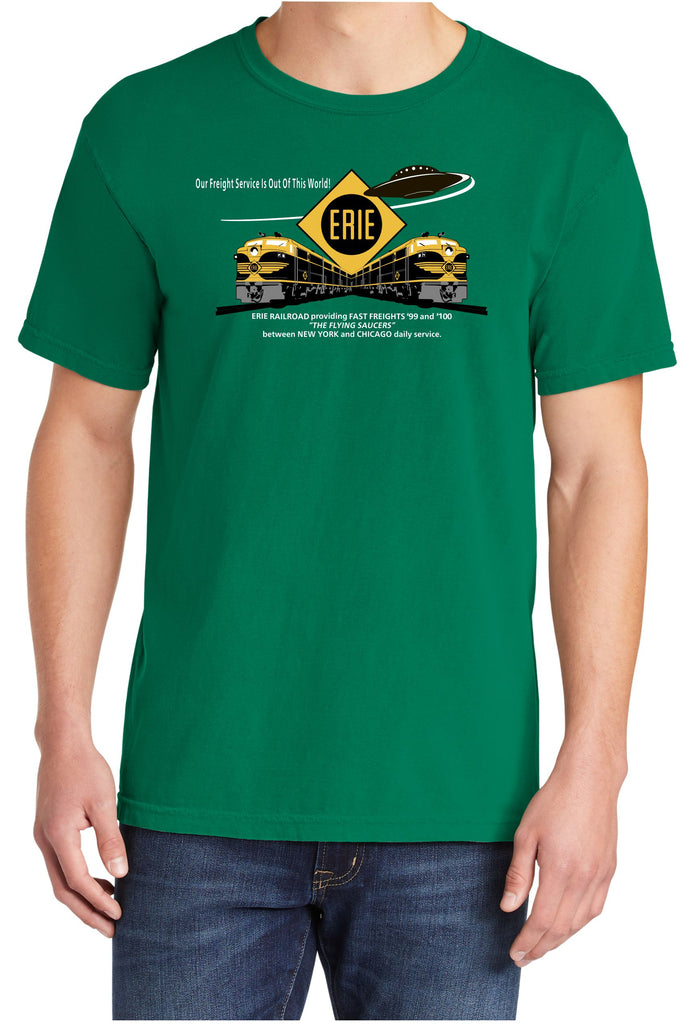"Erie Railroad ""Flying Saucer"" Fast Freight Faded Glory Shirt"