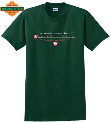 "Erie & Western Transportation Co. Anchor Line  ""The Great Lakes Route"" Shirt"