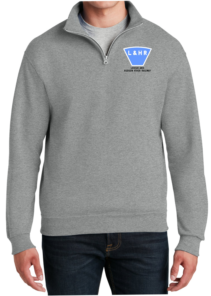 Lehigh and Hudson River Logo Embroidered Cadet Collar Sweatshirt