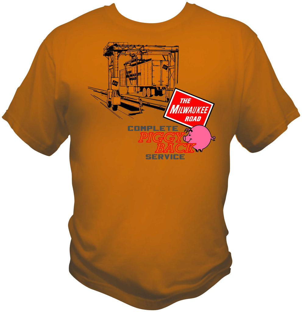 Milwaukee Road Piggy Back Service Shirt