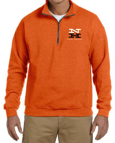 "New Haven "" McGinnis"" Logo Embroidered Cadet Collar Sweatshirt"