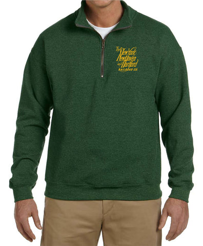 New Haven Script Logo Embroidered Cadet Collar Sweatshirt