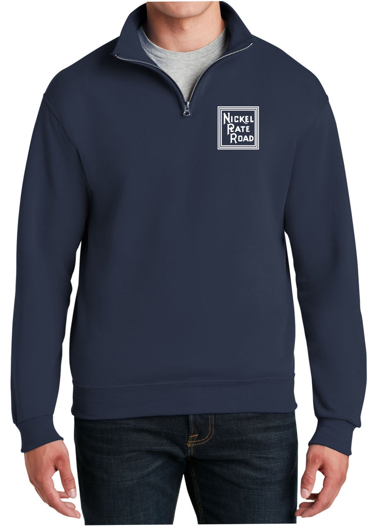 Nickle Plate Road Logo  Embroidered Cadet Collar Sweatshirt