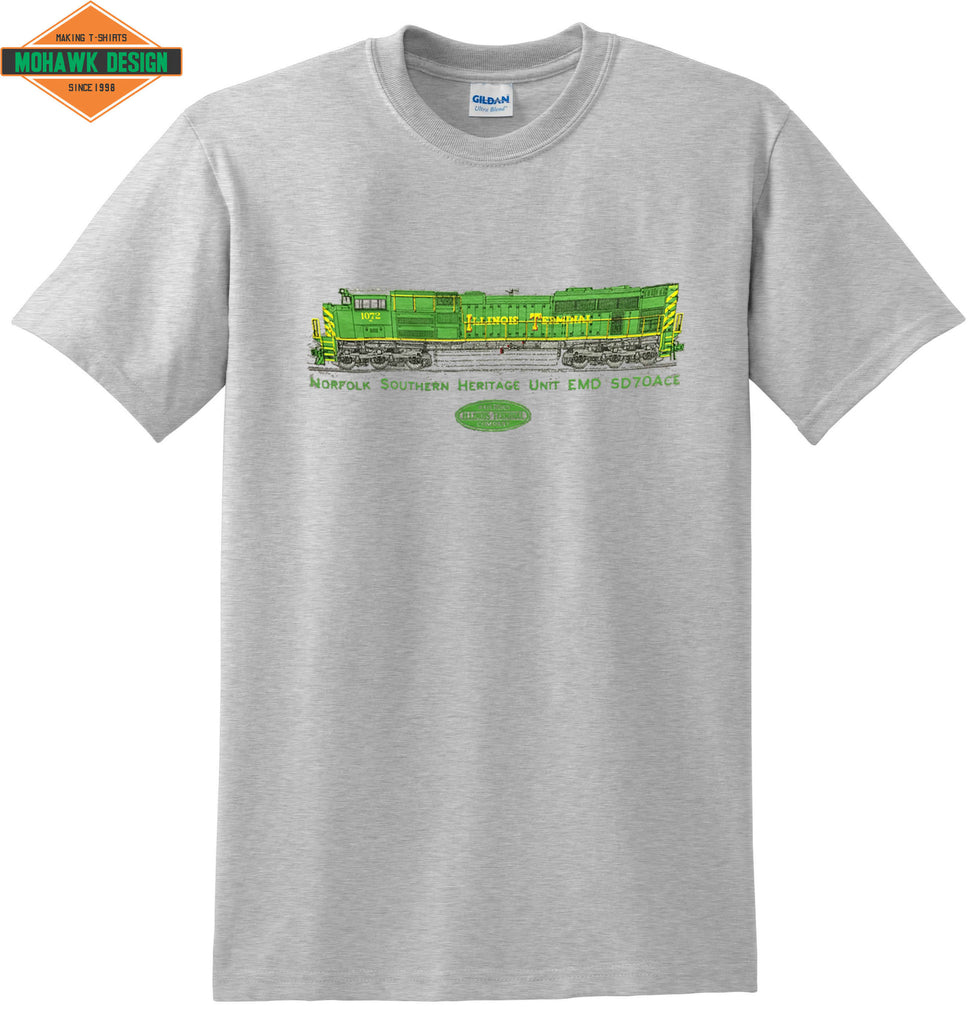"Norfolk Southern (NS) ""Illinois Terminal"" Heritage Unit EMD SD70ACE Shirt"