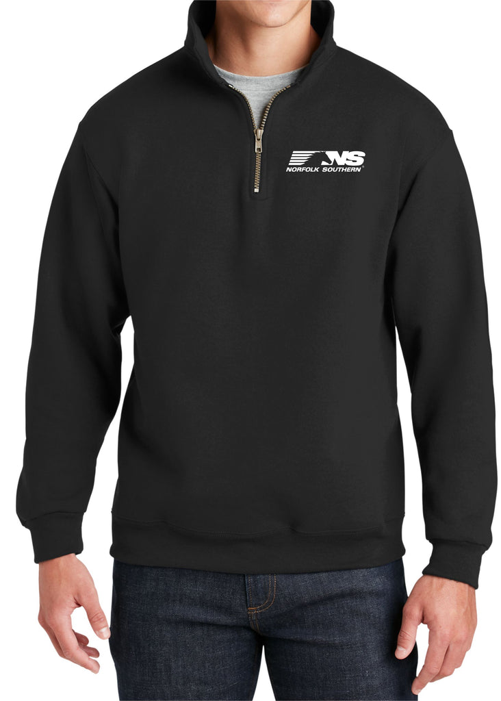 Norfolk Southern Logo Embroidered Cadet Collar Sweatshirt