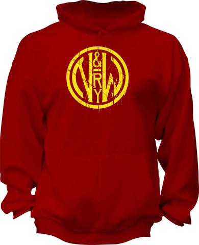 Norfolk & Western (N&W) Railway Distressed Logo Hoodie