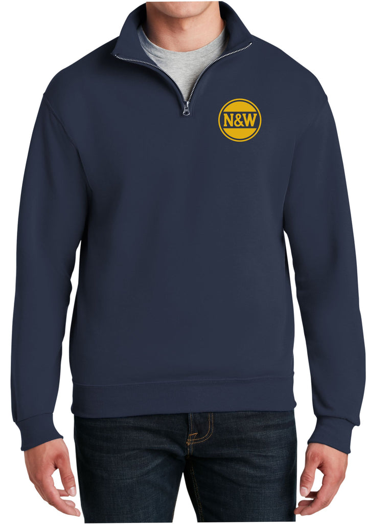 NW Hamburger Logo  Embroidered Cadet Collar Sweatshirt