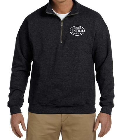 New York Central Oval Logo Embroidered Cadet Collar Sweatshirt