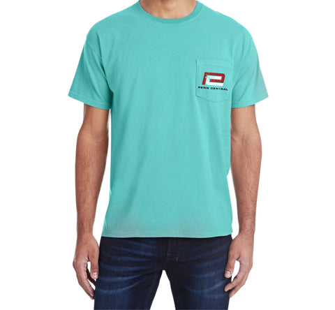 Penn Central Railroad Pocket Tee Faded Glory Shirt